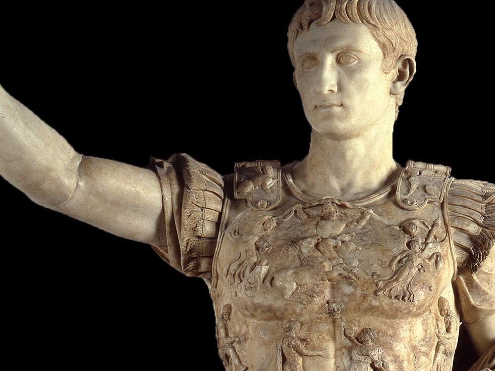 Augusto de Prima Porta es la estatua más copiada de César Augusto (alias Octaviano), el primer emperador de Roma