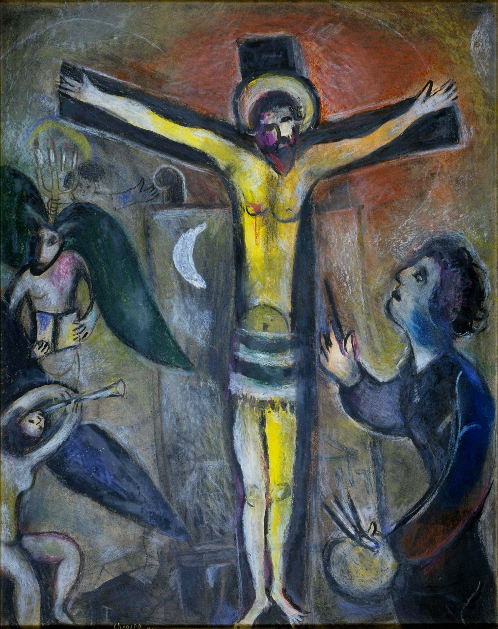 Marc chagall le christ et le peintre vatican museums for Chagall peintre