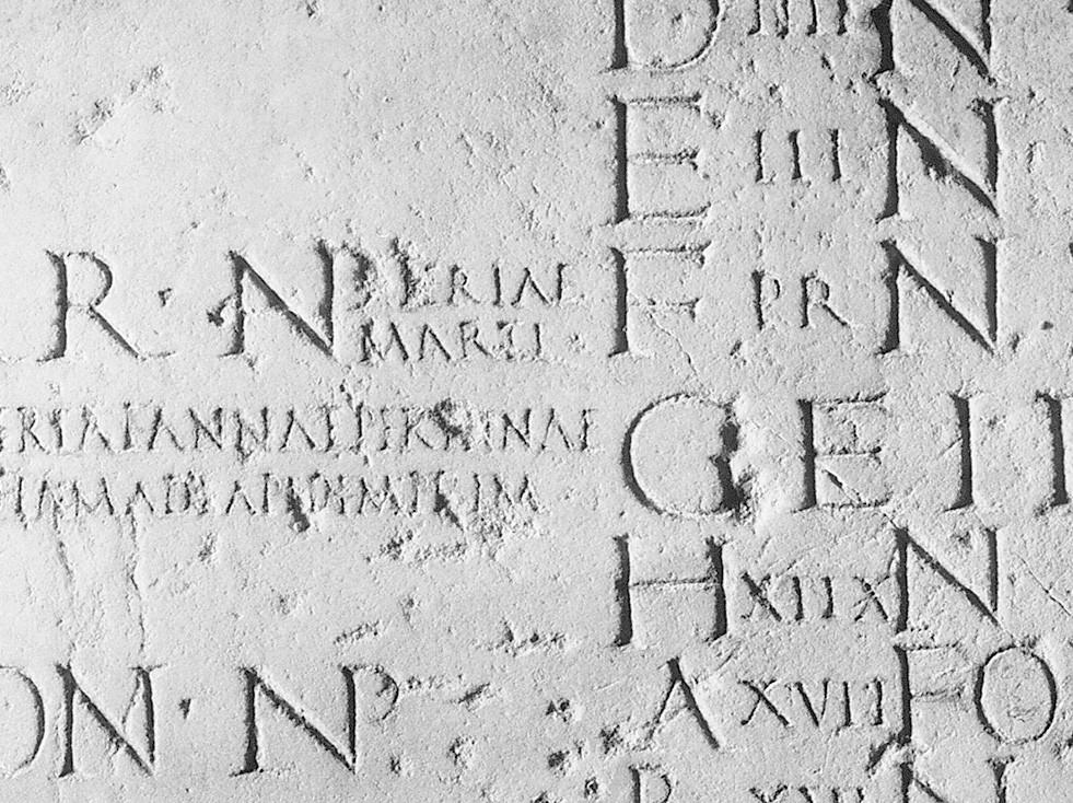 Calendario Romano.Frammento Di Calendario Romano Musei Vaticani