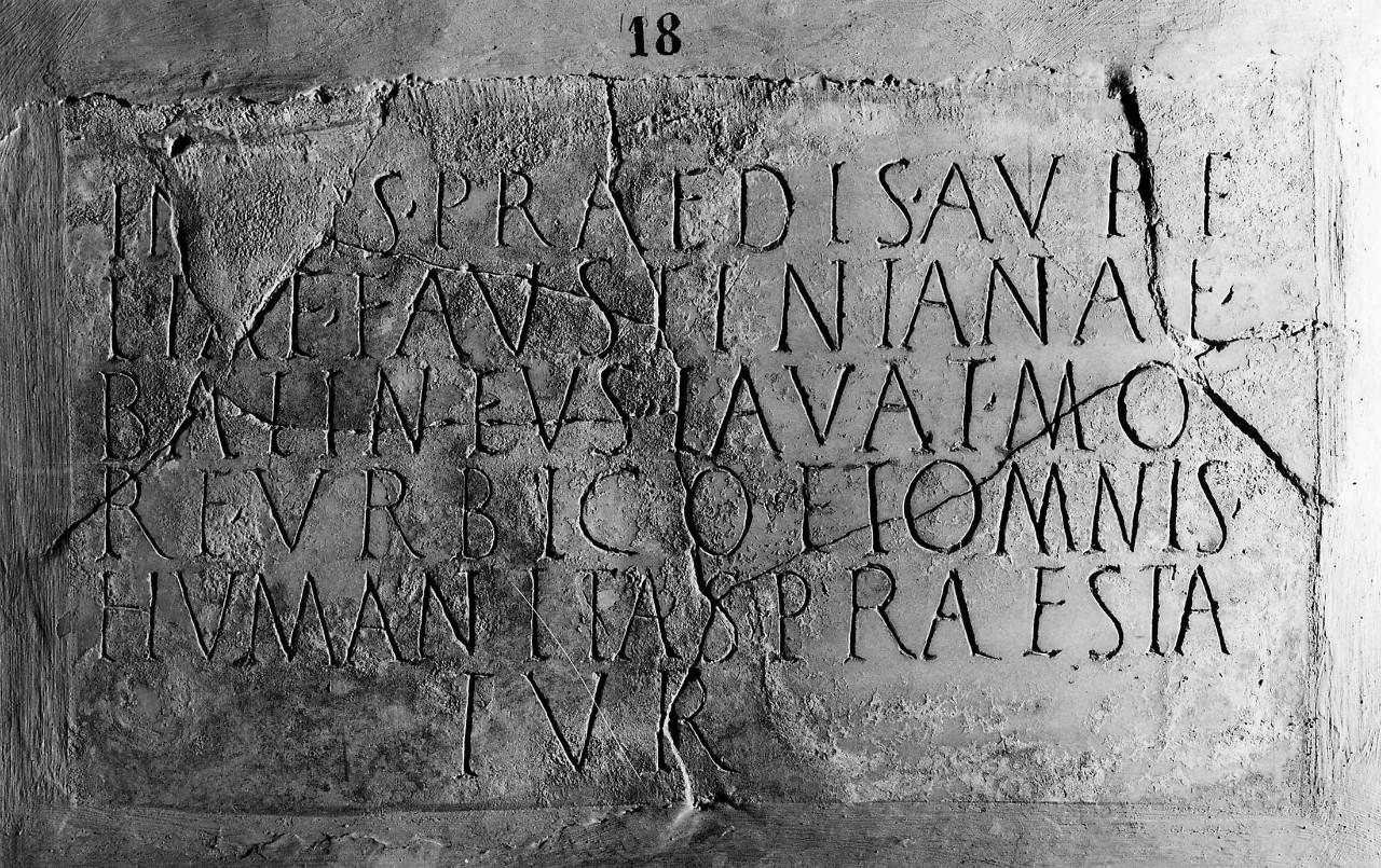 Insegna di bagno pubblico - Musei Vaticani