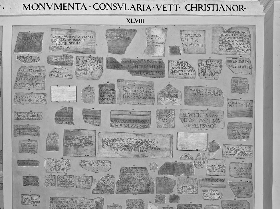 Section XVII. Christian inscriptions with consular dating