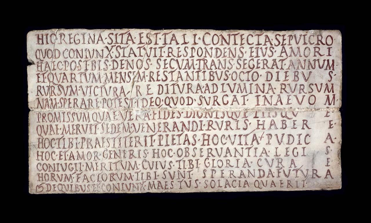 Inscription de regina mus es du vatican for Inscription d et co
