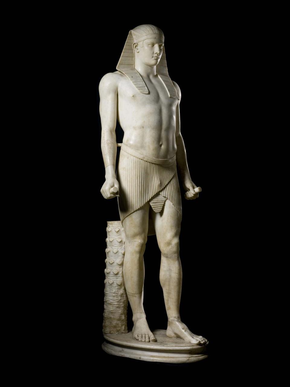 statue of osiris antinous vatican museums