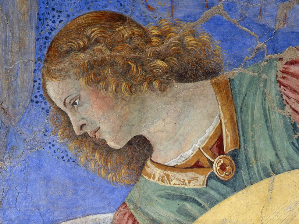 Melozzo Da Forl 236 An Angel Playing The Lute Vatican Museums