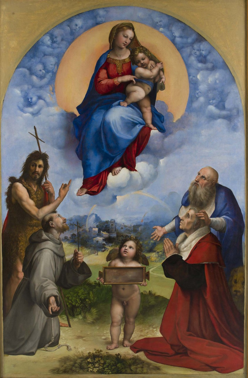 Zarathustra on the canvas of Raphael: like a red cat from St. Petersburg turned out to be on masterpieces of world art