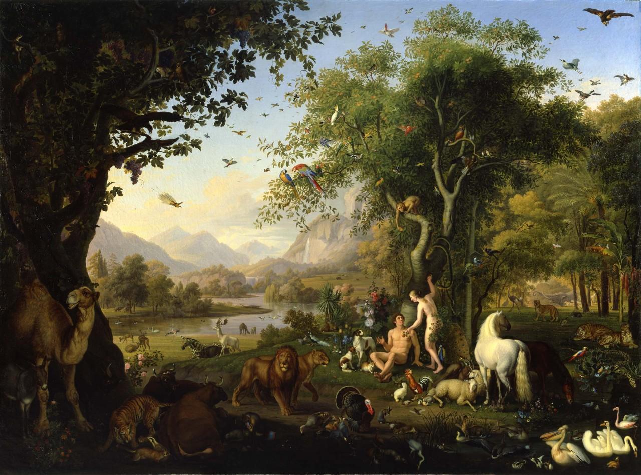 Wenzel Peter Adán Y Eva En El Paraíso Terrenal